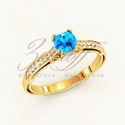 Женское золотое кольцо Versace