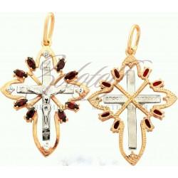 Золотой крест с гранатами